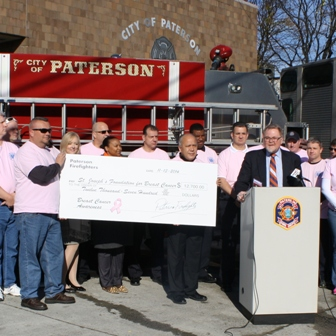 Paterson Firefighters Think Pink