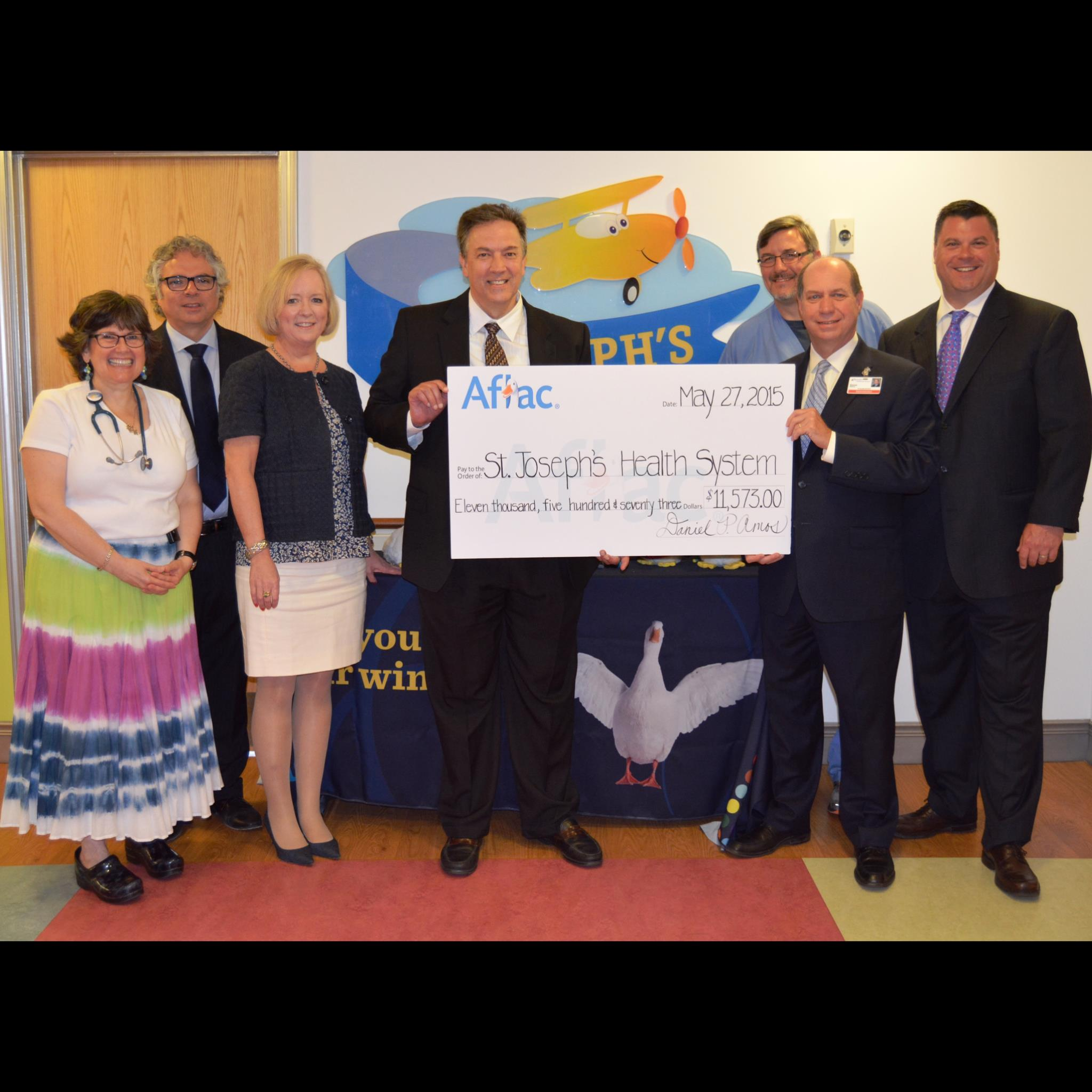 Sjch Accepts Donation From Aflac