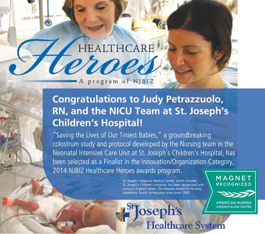 Sjch S Nicu Named Njbiz Healthcare Heroes Finalist
